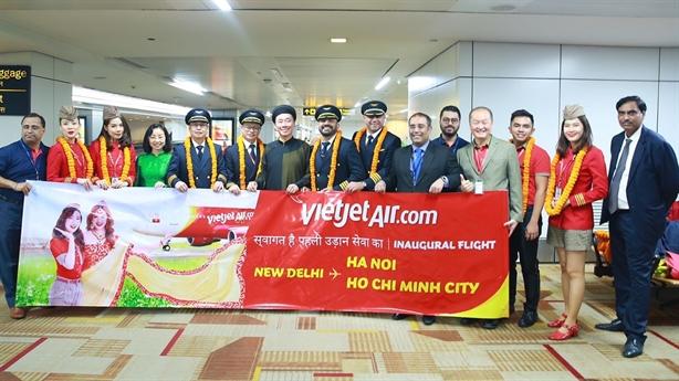 Vietjet khai trương hai đường bay thẳng Việt Nam - Ấn Độ