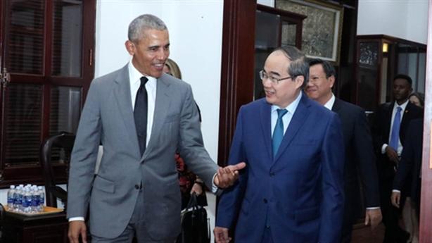 Bí thư TP.HCM Nguyễn Thiện Nhân tiếp xã giao ông Obama