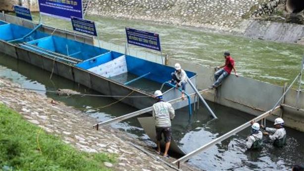 Thí điểm xử lý ô nhiễm sông
