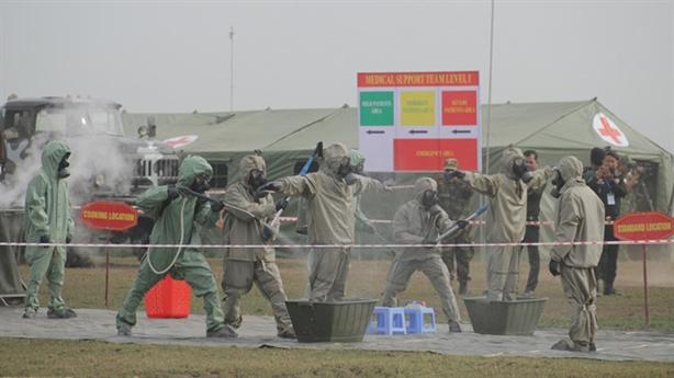 Việt Nam - Campuchia diễn tập cứu hộ tại biên giới