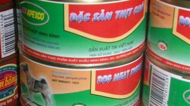 Xưởng sản xuất thịt chó đóng hộp: 'Định xuất sang Hàn Quốc'