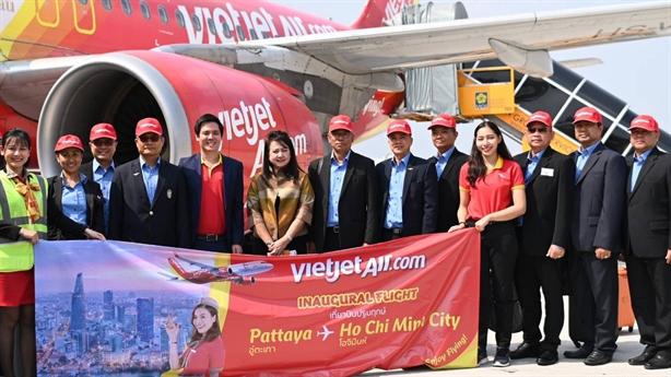Vietjet khai trương đường bay Tp. HCM–Pattaya vi vu Giáng sinh