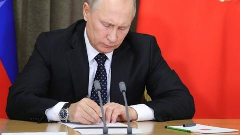 Ông Putin sa thải loạt quan chức cấp cao
