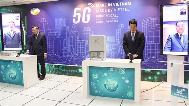 Cuộc gọi 5G đầu tiên trên thiết bị Make in Vietnam