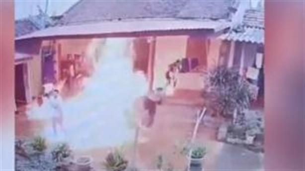 Con rể mang can xăng đốt nhà bố vợ: Vì cay