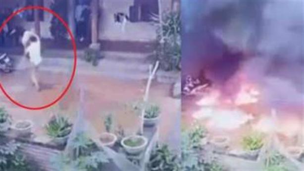 Con rể mang xăng đốt nhà bố vợ từng dọa...giết cả nhà