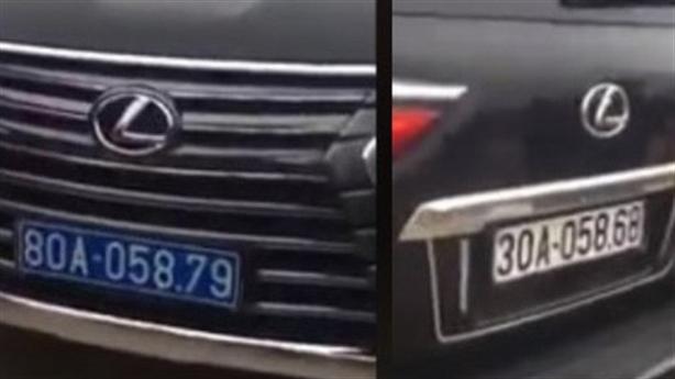 Kết quả xác minh Lexus 570 đeo biển trước xanh, sau trắng