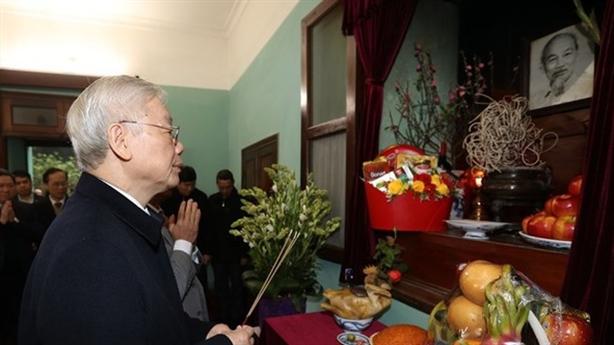 Hoạt động của Tổng Bí thư kỉ niệm 90 năm ĐCSVN