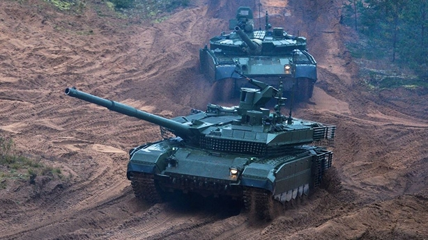 Nga trang bị siêu pháo của Armata cho T-90M