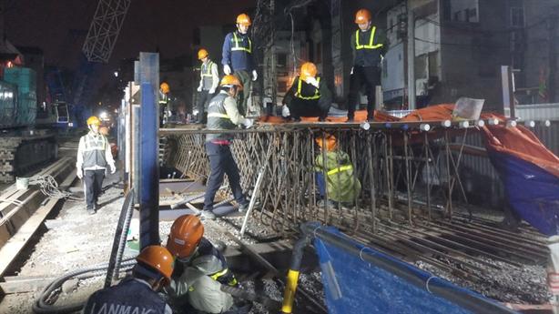 Tiến độ mới của đường sắt Nhổn-Ga Hà Nội