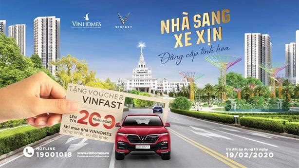 Mua nhà Vinhomes tặng voucher xe VinFast lên tới 200 triệu