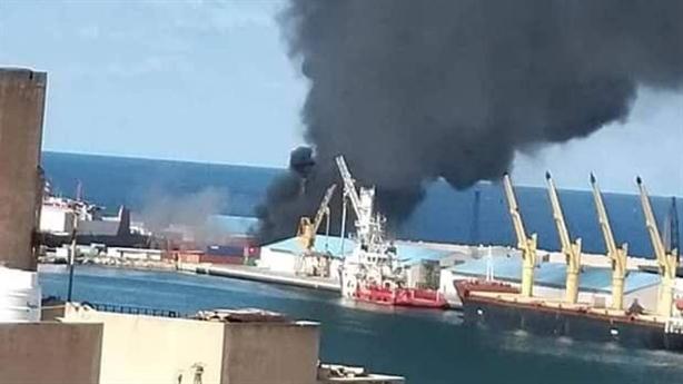 Hình ảnh LNA phá hủy tàu chở vũ khí của Thổ