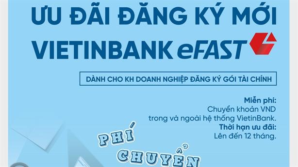 VietinBank miễn nhiều loại phí cho DN dùng Ngân hàng điện tử