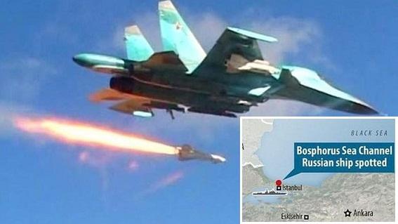 Máy bay Nga-Syria diệt trạm quan sát, Thổ đóng eo biển Bosphorus?