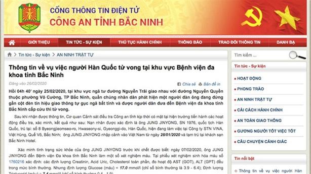 Khẳng định nóng vụ người Hàn Quốc chết ở Bắc Ninh
