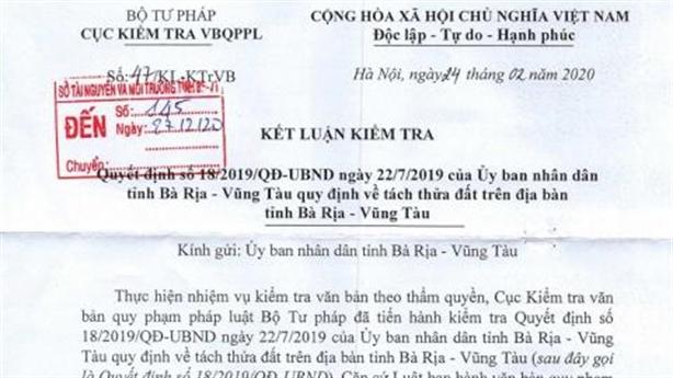Cục KTVB tuýt còi một quyết định ảnh hưởng tới dân