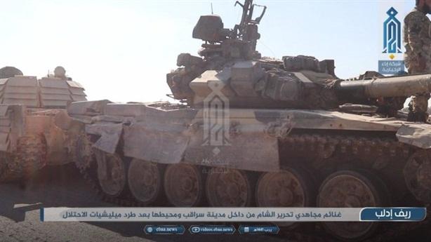T-90A bị tóm sống khi Saraqeb thất thủ