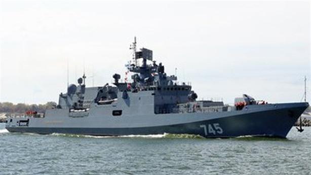 Tàu khu trục của hạm đội Biển Đen đến bờ biển Syria