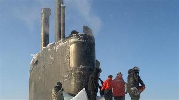 Tàu ngầm Mỹ tàng hình giỏi nhưng kẹt trong băng Bắc Cực