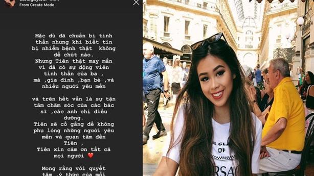 Tiên Nguyễn - em chồng Hà Tăng nói gì khi nhiễm Covid-19?