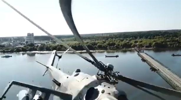Mi-24 Nga suýt đâm UAV trong diễn tập