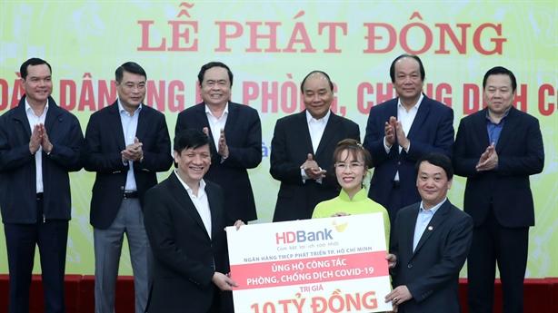 HDBank chung tay chống dịch, hạn mặn