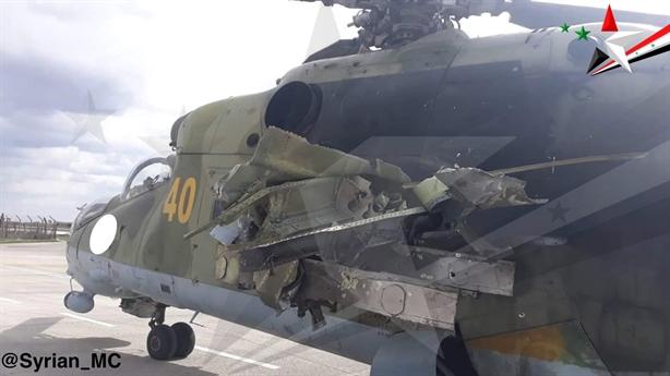 Trực thăng Mi-24 Syria bị bắn hỏng quay trở lại chiến đấu