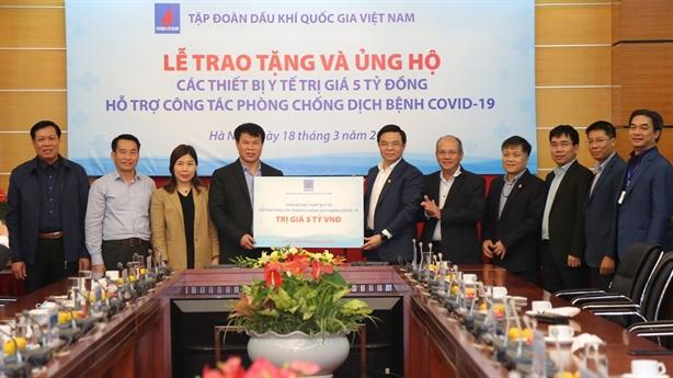 PVN trao tặng thiết bị y tế trị giá 5 tỷ đồng