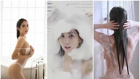 Khoe ảnh trong phòng tắm, Ngọc Trinh kém hẳn ngày xưa?