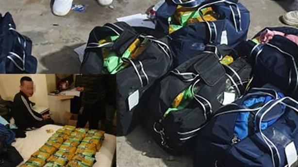 Giấu 260 kg ma túy tại bãi rửa xe, phủ áo mưa
