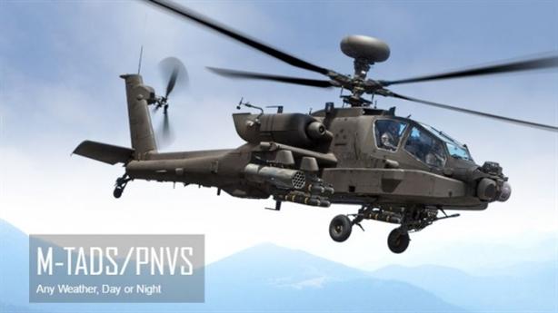 Apache đã nhìn được xuyên đêm sau khi mù vật cản