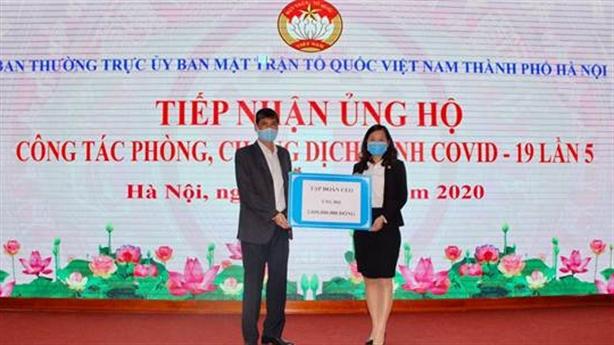 Tập đoàn CEO ủng hộ 2tỷ đồng cùng TP.Hà Nội chống Covid-19