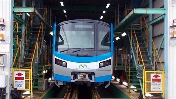 Đoàn tàu metro số 1 của TP.HCM chạy thử ở Nhật Bản