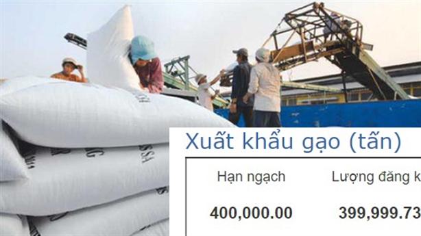 Mở tờ khai xuất khẩu gạo lúc nửa đêm: Giải thích nóng