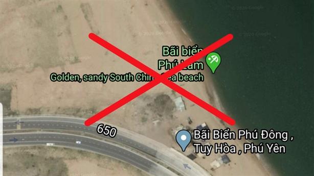 Phú Yên phản bác Google Maps định vị về biển Việt Nam