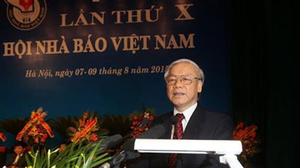 Tổng Bí thư, Chủ tịch nước chúc mừng Hội Nhà báo VN
