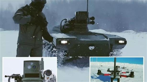Robot chiến đấu Nga tự phối hợp với UAV