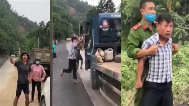3 kẻ đánh người, phá ôtô trước mặt công an là ai?