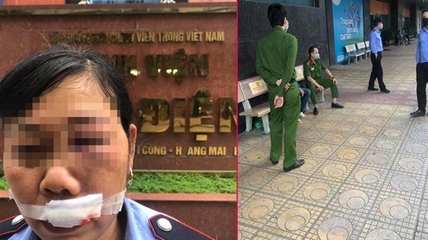 Shipper ném điện thoại vào mặt nữ bảo vệ: Lời nhân chứng