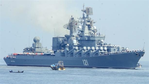 Tuần dương hạm Moskva chi viện hỏa lực cho Idlib