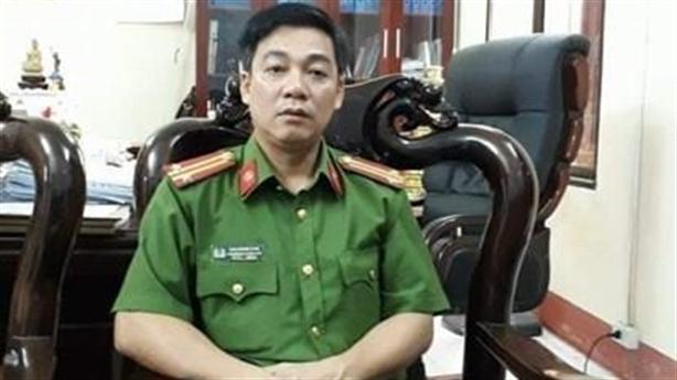 Chuyển công tác thượng tá Cao Giang