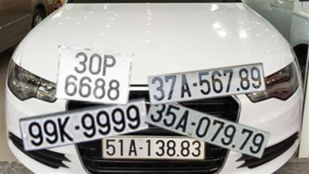 Đấu giá biển số xe đẹp: Vẫn sợ gặp phiền toái