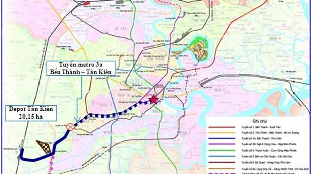 TP.HCM đề xuất đầu tư tuyến metro 3A gần 68.000 tỷ đồng