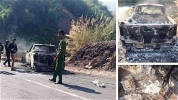 Tin mới vụ người đàn ông chết cháy trong xe