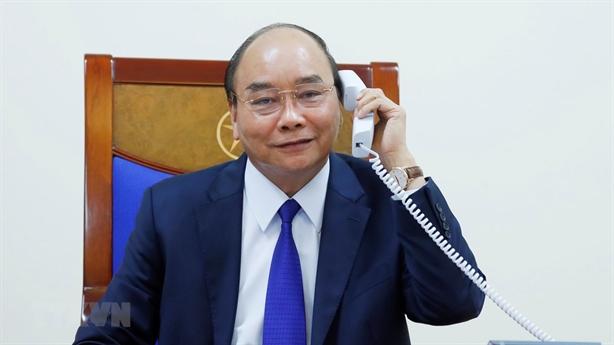 Thủ tướng Nguyễn Xuân Phúc điện đàm với Tổng thống Donald Trump
