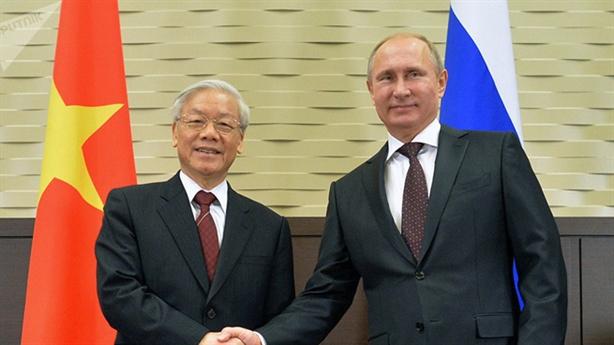 Tổng Bí thư Nguyễn Phú Trọng chúc mừng Tổng thống Vladimir Putin