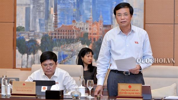Quốc hội sẽ miễn nhiệm Phó thủ tướng Vương Đình Huệ