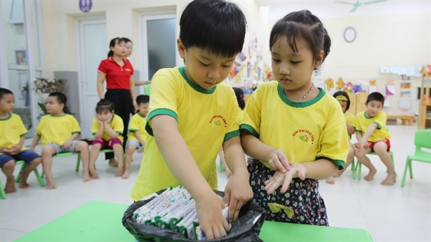 Hàng triệu trẻ em Hà Nội được thụ hưởng Sữa học đường