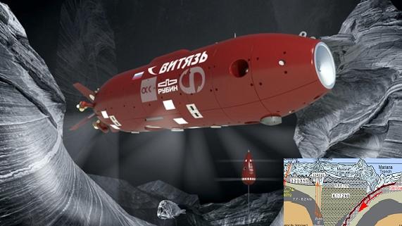 Tàu ngầm tự hành Vityaz dạo chơi đáy biển sâu hơn 10.000m