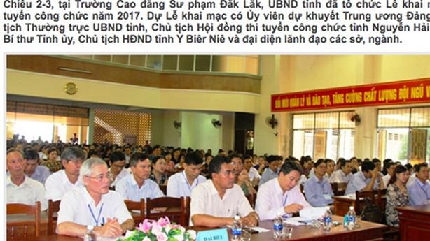 Bất ngờ sửa điểm nhiều bài thi công chức tỉnh Đắk Lắk